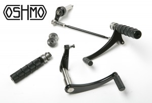 Black Rear Sets for 1970's BMW motorcycles
