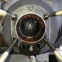 R50/2 with R90 engine disassembly - Frozen piston in cylinder.